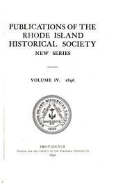 Publications of the Rhode Island Historical Society: Volume 4