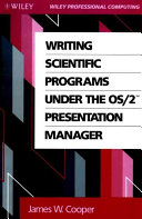 Download Writing Scientific Programs Under the OS 2 Presentation Manager Book