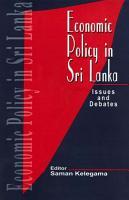 Economic Policy in Sri Lanka PDF