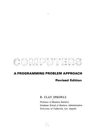 Computers  a Programming Problem Approach