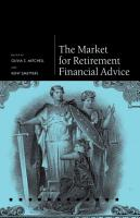 The Market for Retirement Financial Advice PDF