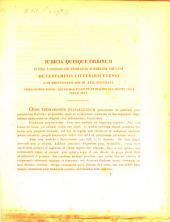 Iudicia quinque ordinum Universitatis Fridericiae Guilelmiae Rhenanae de litterarum certaminibus anni ... facta novaeque quaestiones anno ... propositae: 1837