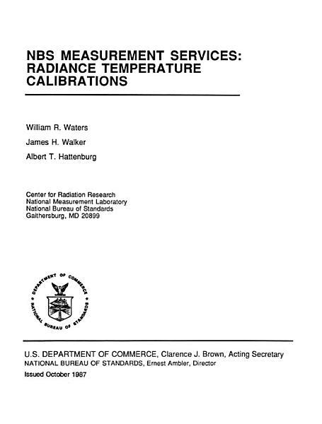 Radiance Temperature Calibrations