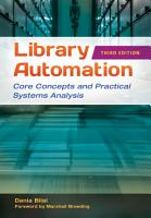 Library Automation  Core Concepts and Practical Systems Analysis  3rd Edition PDF
