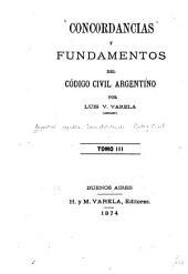 Concordancias y fundamentos del Código civil argentino: Volúmenes 3-4