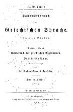 Dr  W  Pape s W  rterbuch der griechischen Eigennamen PDF