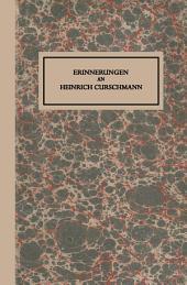 Erinnerungen an Heinrich Curschmann