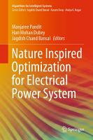 Nature Inspired Optimization for Electrical Power System PDF