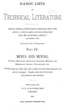 Handy Lists of Technical Literature PDF