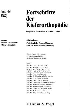 Fortschritte der Kieferorthop  die PDF