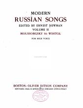 Modern Russian Songs: Moussorgsky to Wihtol