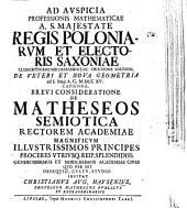 De matheseos semiotica
