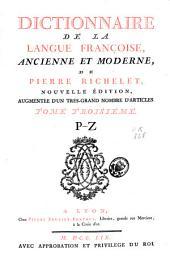 Dictionnaire de la langue françoise, ancienne et moderne: Volume2