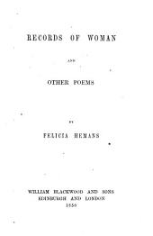 Records of Woman and Other Poems