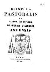 Epistola pastoralis ad clerum, et populum universæ discesis astensis [Michael Amator Lobetti!