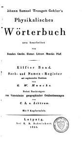 Johann Samuel Traugott Gehler's physikalisches Wörterbuch: Band 20