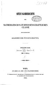 Sitzungsberichte der Kaiserlichen Akademie der Wissenschaften. Mathematisch-Naturwissenschaftliche Classe: Band 12,Teil 1