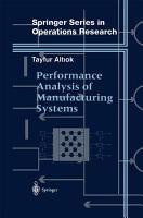 Performance Analysis of Manufacturing Systems PDF