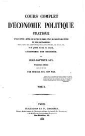 Cours complet d'economie politique pratique (etc.) 3. ed. augm. des notes par Horace Say: 10.11