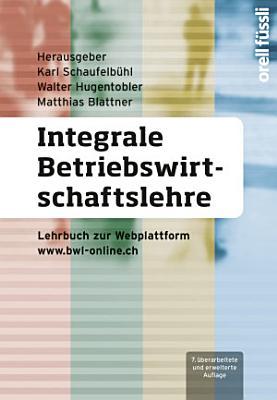 Integrale Betriebswirtschaftslehre PDF