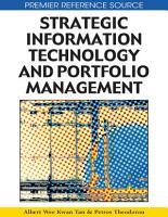 Strategic Information Technology and Portfolio Management PDF