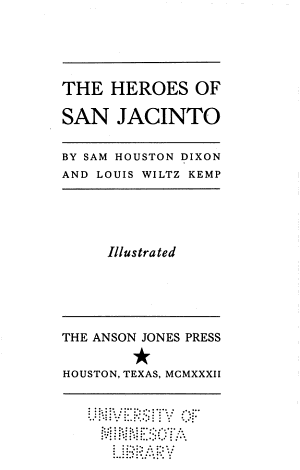The Heroes of San Jacinto