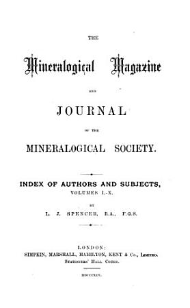 The Mineralogical Magazine and Journal of the Mineralogical Society PDF