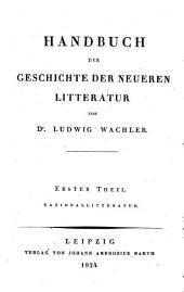 Handbuch der Geschichte der Litteratur: Band 3
