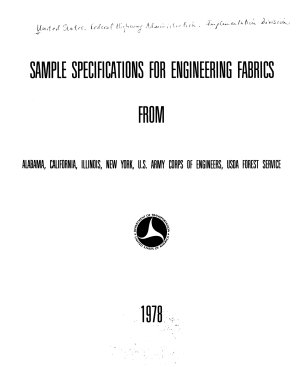 Sample Specifications for Engineering Fabrics