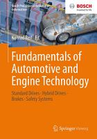 Fundamentals of Automotive and Engine Technology PDF