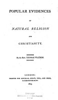 Popular Evidences of Natural Religion and Christianity PDF