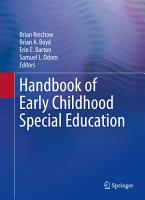 Handbook of Early Childhood Special Education PDF