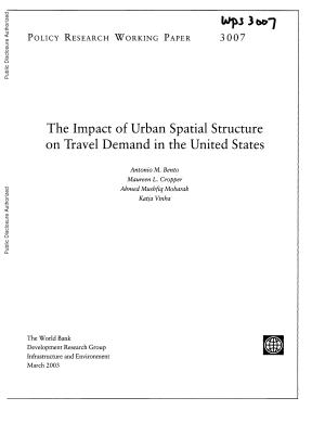 The Impact of Urban Spatial Structure on Travel Demand in the United States PDF