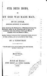 Cur Deus Homo Book PDF