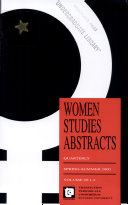 Women Studies Abstracts PDF