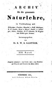 Archiv für die gesammte Naturlehre: Band 21
