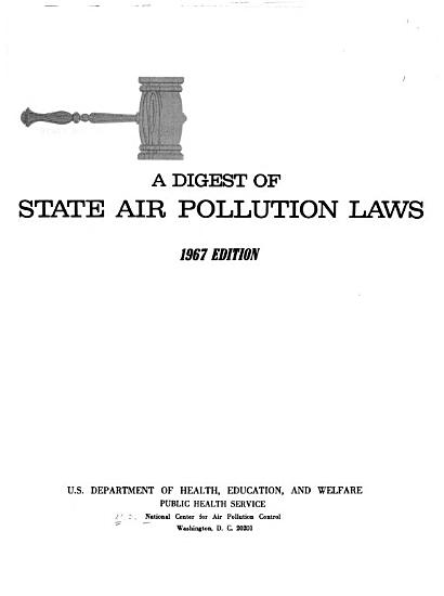 A Digest of State Air Pollution Laws PDF