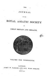 Journal of the Royal Asiatic Society: Volume 13