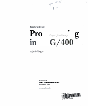 Programming in RPG 400 PDF