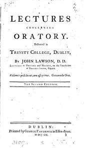 Lectures concerning oratory