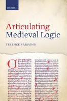 Articulating Medieval Logic PDF
