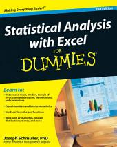 Statistical Analysis with Excel For Dummies: Edition 2