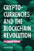 Cryptocurrencies and the Blockchain Revolution PDF