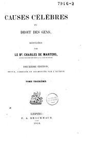 Causes célèbres du droit des gens: Volume2
