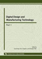 Digital Design and Manufacturing Technology PDF