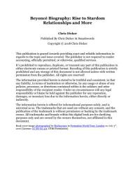 Beyonc   Biography  Rise to Stardom  Relationships and More PDF