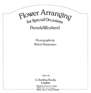 Flower Arranging for Special Occasions