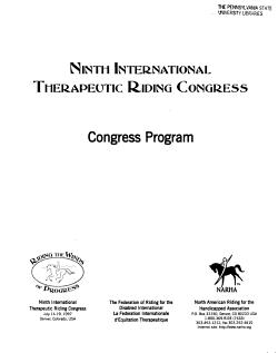 Proceedings of the Ninth International Therapeutic Riding Congress PDF