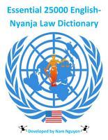 Essential 25000 English Nyanja Law Dictionary PDF