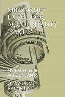 Microsoft Excel for Accountants 'part 3'